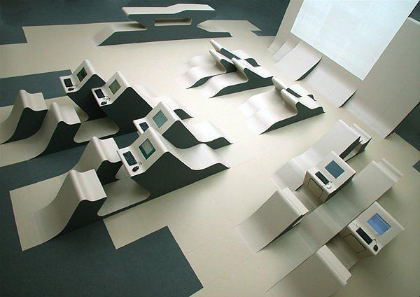 Информационный зал Stylepark Lounge XXI Всемирный конгресс архитекторов, Берлин, 2002 г. Stylepark Lounge, XXI UIA Congress Berlin, 2002 Photo © Uwe Walter