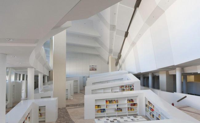 Город культуры Галисии. Галисийская библиотека © Fundacion Cidade da Cultura de Galicia