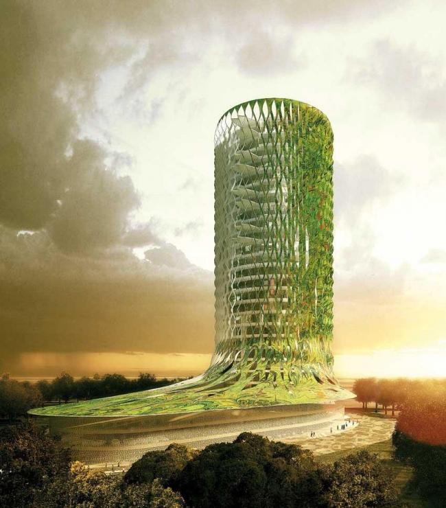 Комплекс Tena Tower – Tena Lakes © Manuelle Gautrand Architecture – © Luxigon