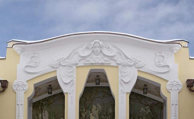 Фрагмент фронтона главного фасала