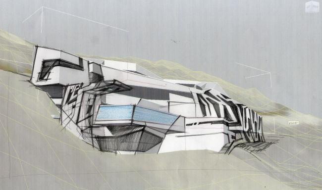 Конкурсный проект курортного поселка в г.Лима (Перу) © Архитектурное бюро «Тотемент/Пейпер»