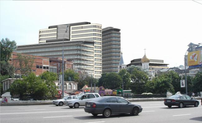ABD architects. Коммерческий деловой центр «Белая площадь». Проект. Вид со стороны Ленинградского шоссе