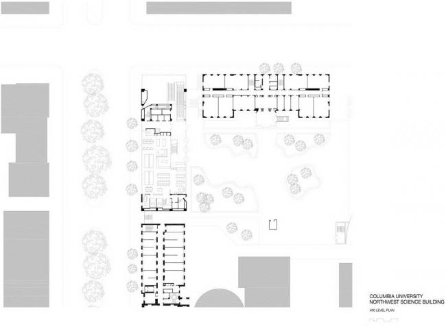 Северо-западный угловой корпус Колумбийского университета. План 4-го этажа