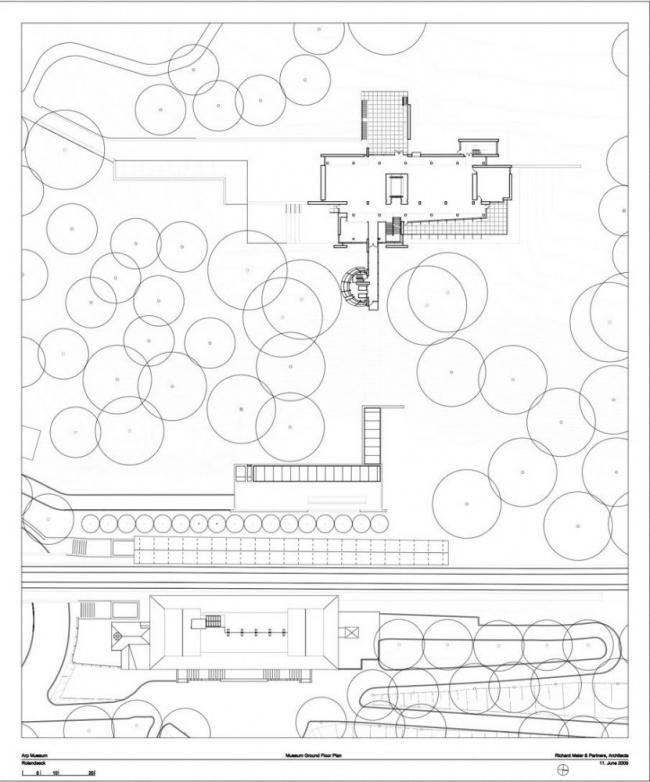Музей Ханса Арпа. План 2-го этажа © Richard Meier & Partners Architects LLP