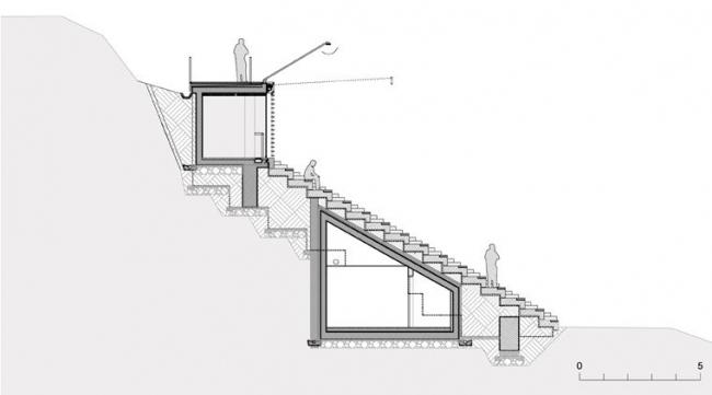 Центр гребного спорта в Бледе. Разрез © MultiPlan arhitekti