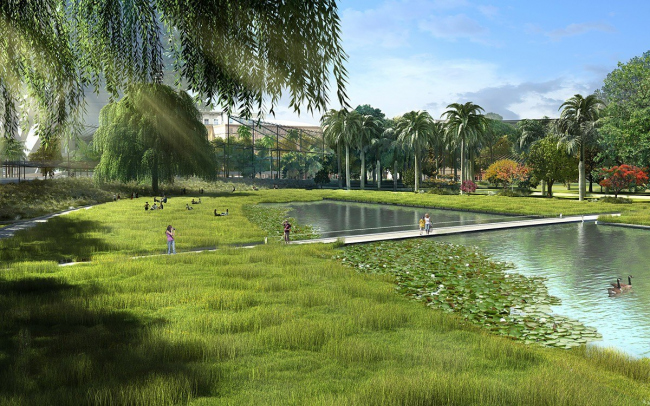 Центральный парк Валенсии © Gustafson Porter