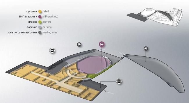 План этажа на отметке -14 метров