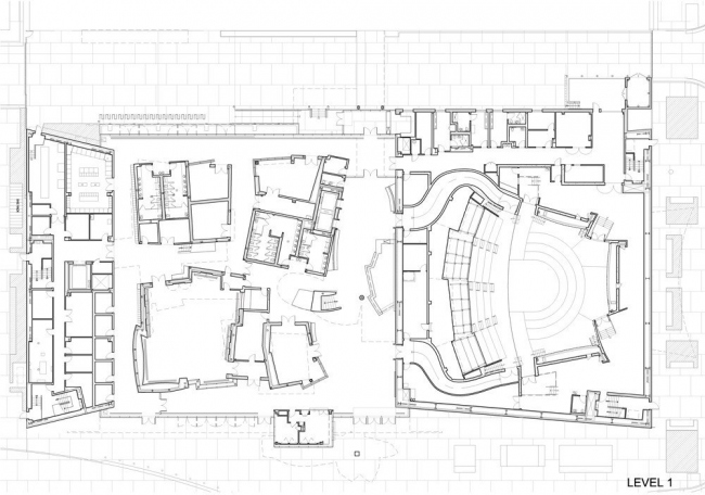 Концертный зал New World Center. План 1-го уровня © FOGA