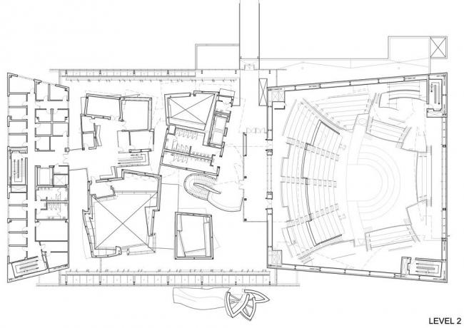 Концертный зал New World Center. План 2-го уровня © FOGA