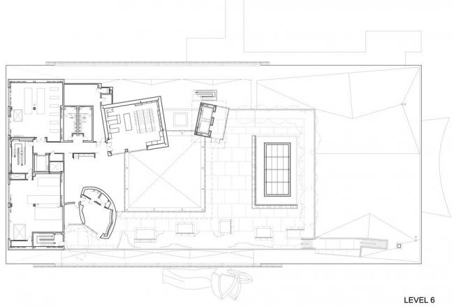 Концертный зал New World Center. План 6-го уровня © FOGA