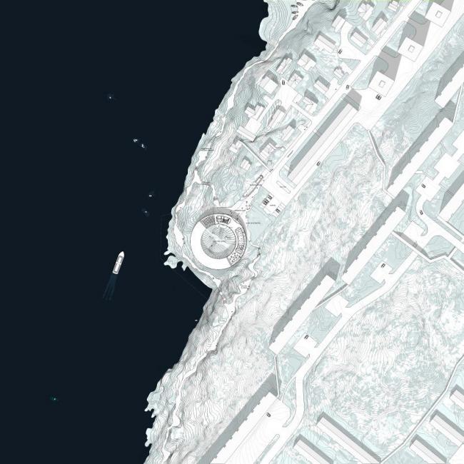 Национальная галерея Гренландии. План уровня 0 © BIG