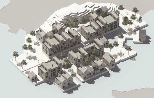 Концепция развития набережной Струссхамна. Илл.: Eriksen Skajaa Architects