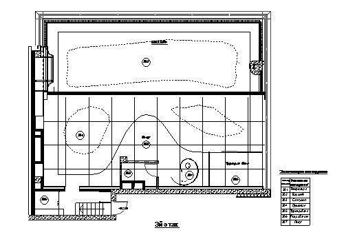 Пентхаус на Шаболовке. План 3 этажа © Архитектурная мастерская Сергея Эстрина