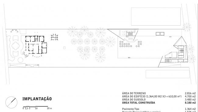 Музей современного искусства - MAM. Схема озеленения © Paulo Mendes da Rocha + Metro Arquitetos