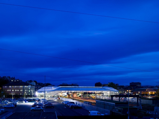 Железнодорожный вокзал Ньюпорта. © Grimshaw