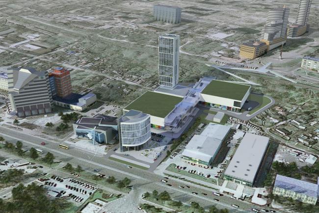 Concept on site development at Naberezhnaya Pobedy street in Dnepropetrovsk