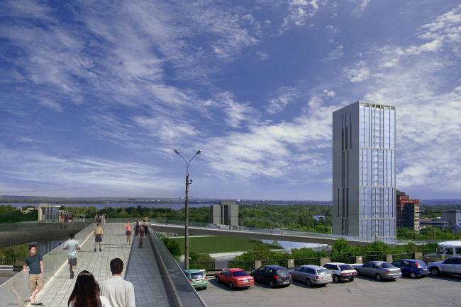 Предложения по застройке участка на ул. Набережная Победы в Днепропетровске