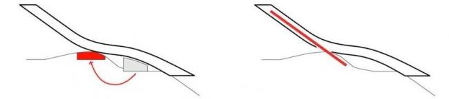 Лыжный трамплин Хольменколлен. Холм как опора и линия наклонного лифта © JDS
