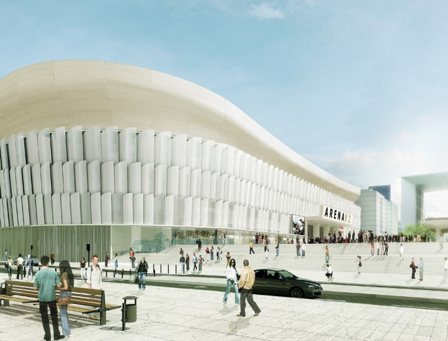Арена 92 © Atelier Christian de Portzamparc