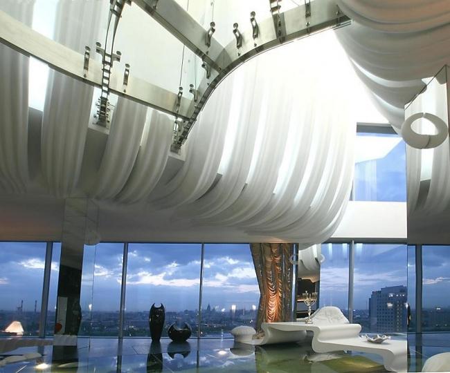 Penthouse on the Shabolovka Street. Implementation, 2007 © Sergey Estrin Architects