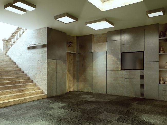 """Interior reconstruction project for the audience area of """"Priut Komedianta"""" theater"""
