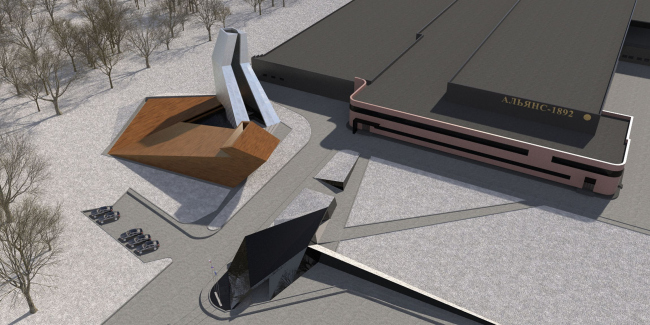"Project. Birds-eye view. Repository museum of ""Alliance-1892"" cognac house © TOTEMENT / PAPER"
