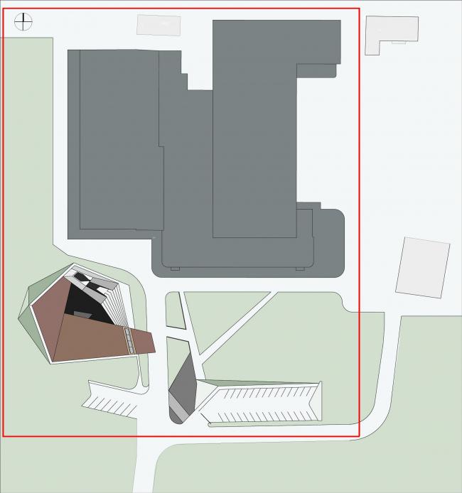 Музей-хранилище коньячного завода «Альянс 1892». Cитуационный план © Архитектурное бюро «Тотемент/Пейпер»