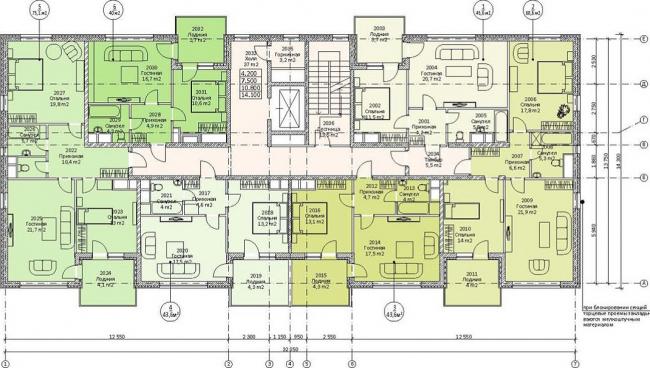 План первого жилого этажа