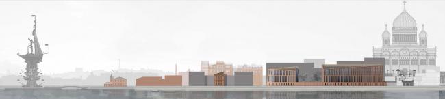 «Красный Октябрь». Концепция строительства двух жилых зданий на Болотной набережной © Сергей Скуратов ARCHITECTS