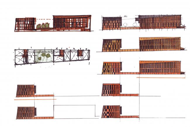 «Красный Октябрь». Концепция строительства двух жилых зданий на Болотной набережной. Эскизы © Сергей Скуратов ARCHITECTS