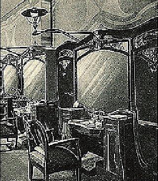 Салон придворного парикмахера.