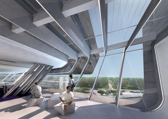 Кампус Венского экономического университета. Заха Хадид. Библиотека и центр знаний (LLC) © Zaha Hadid Architects