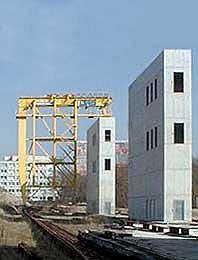 Лестничные шахты, возведенные по проекту П. Цумтора.