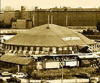 Первый шатер-шапито на участке бывшего Потсдамского вокзала