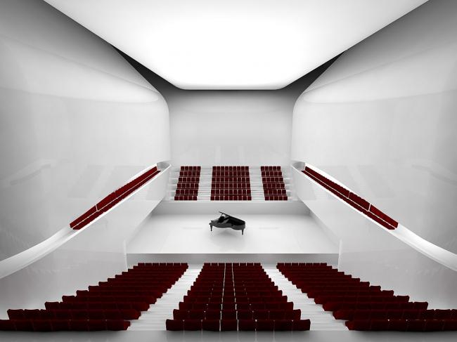 Центр исполнительских искусств Машуфа. Зал для репетиций © Michael Maltzan Architecture