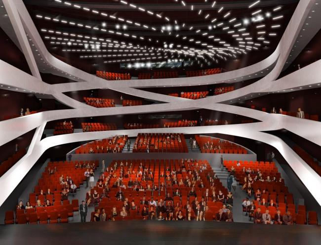 Центр исполнительских искусств Машуфа. Большой зал © Michael Maltzan Architecture