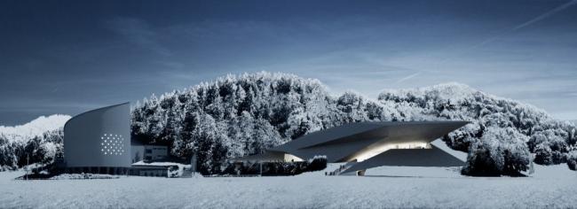 Зимний фестивальный зал в Эрле (Тироль). Изображение © Delugan Meissl