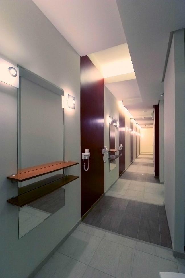 Дизайн проект  фитнес-центра «World Class» © Архитектурная мастерская Сергея Эстрина