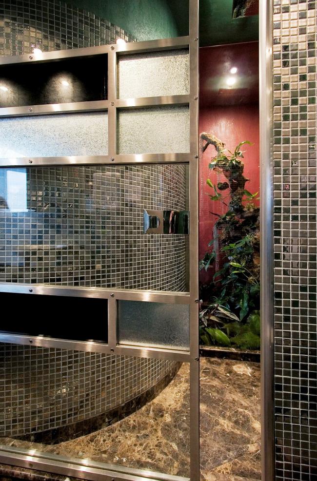 Дизайн интерьера двухэтажного пентхауса © Архитектурная мастерская Сергея Эстрина
