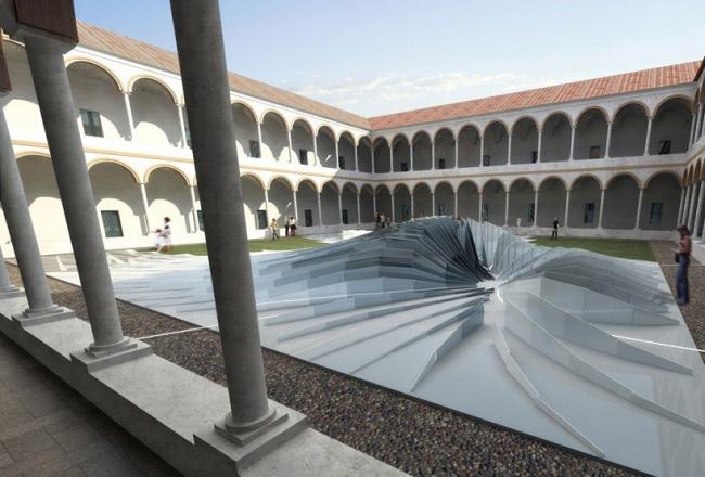 Заха Хадид. Инсталляция «Вихрь». Проект © Zaha Hadid Architects & Interni Mutant Architecture