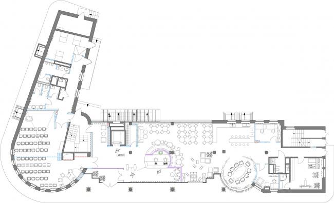 План мебели первого этажа