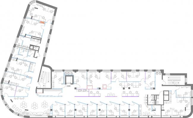 План мебели второго этажа