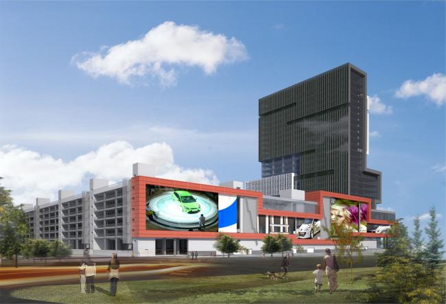 Торгово-деловой комплекс «Водный». Проект © AM «Атриум»