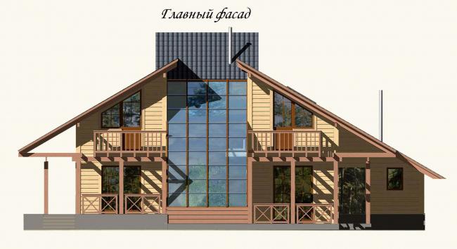 Главный фасад, проект