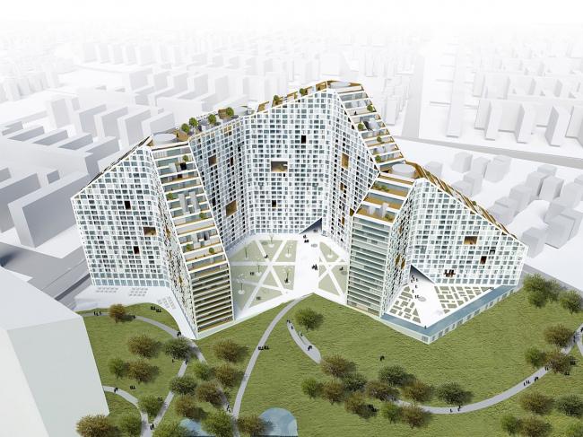 Жилой массив Amanora Apartment City - Future Towers. 1-я очередь проекта © MVRDV