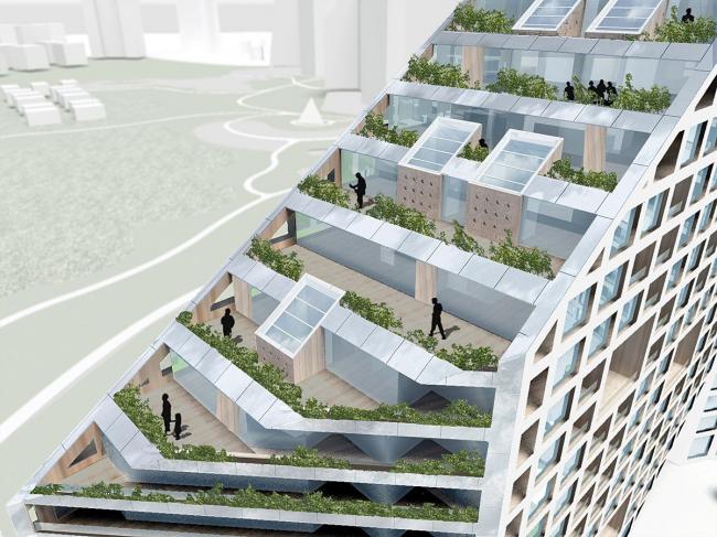 Жилой массив Amanora Apartment City - Future Towers © MVRDV