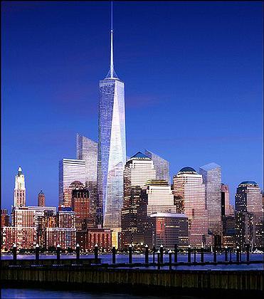 «Башня Свободы» среди застройки Нижнего Манхэттена