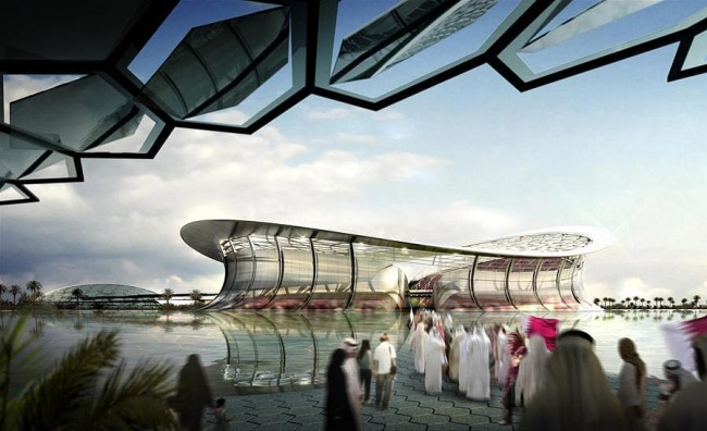 Стадион Лусайл в Катаре, изображение с сайта Foster&Partners.