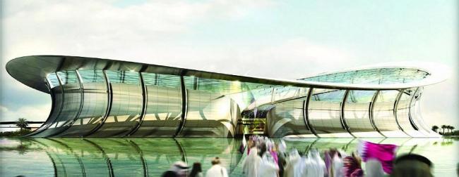 Стадион Лусайл в Катаре, изображение с сайта Manica architects.