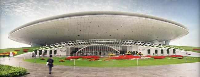 Арена Мерседес Бенц в Шанхае, бюро ECADI при участии Дэвида Маника. Изображение с сайта Manica architects.